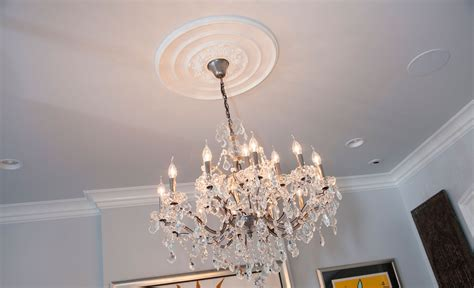 Ceiling Chandelier Medallion Traditional Ceiling Medallion Project Pictures