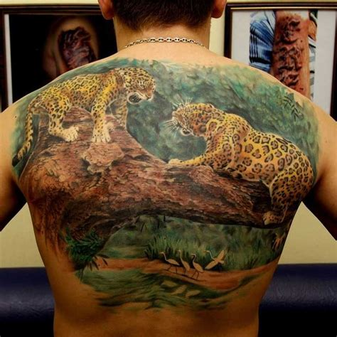 jaguar tattoo back tattoos askideas