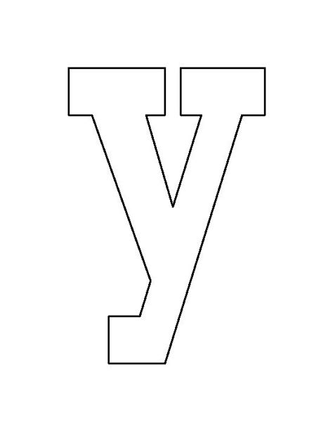 String Letter Patterns - lowercase letter y pattern use the printable outline for