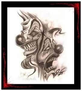payaso tattoo designs 34 best gangster clown designs images on