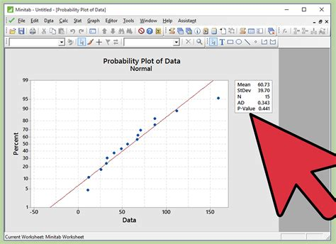 test d how to perform a normality test on minitab 12 steps