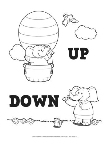 opposites coloring pages preschool the mailbox