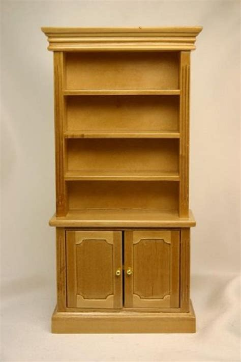 dollhouse miniature oak bookshelves bookshelf with crown