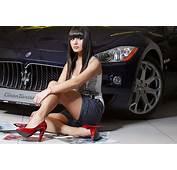 Girls And Muscle Cars Wallpaper  WallpaperSafari