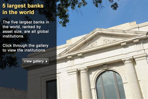 world largest bank what are the 5 largest banks in the world