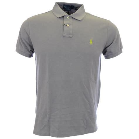 Polo Shirt Polo Raphl Custom Tshirt Polo polo ralph museum grey custom fit polo shirt polo ralph from n22 menswear uk