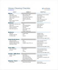 home cleaning checklist template cleaning checklist template 18 free word excel pdf