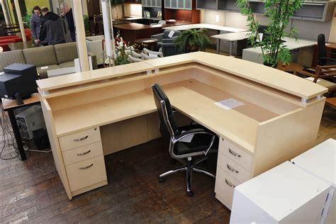 Teknion Reception Desk Teknion Maple Laminate Reception Desk Peartree Office Furniture
