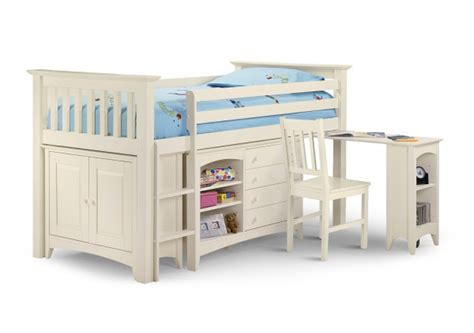 Small Mid Sleeper Bed by Julian Bowen Cameo White Sleep Station Mid Sleeper By