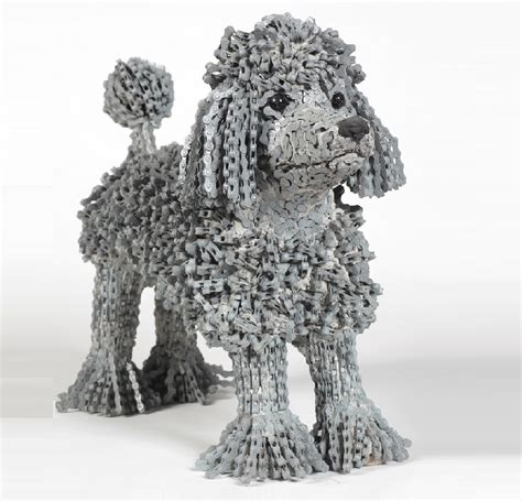 what are dogs made out of unchained a collection of sculptures made out of recycled materials sheep