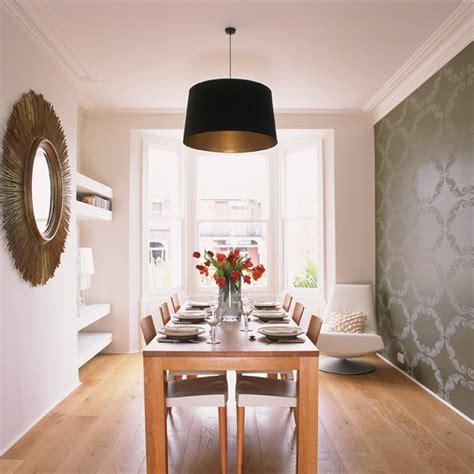 Dining Room With Gray Wallpaper 25 فكرة لاستخدام ورق الحائط في حجرة السفرة صور المصري