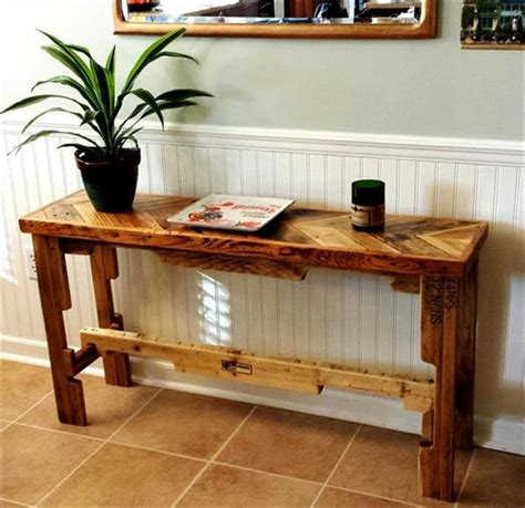 How To Make A Hall Table From Pallets