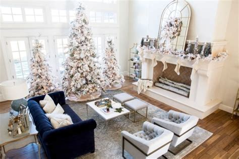 elegant decorating ideas  white christmas godiygocom