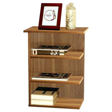 homeconcept magazine rack chairside end table walnut 11451wl