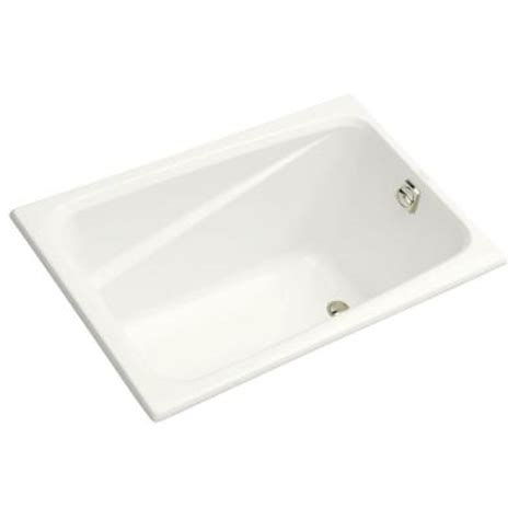 4 Foot Tub Kohler 4 Ft Reversible Drain Acrylic Soaking Tub In