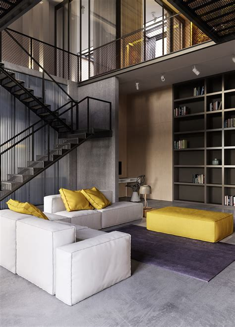 industrial interiors home decor industrial style apartment in kiev design father