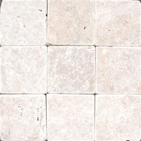 1 ft travertine floor ms international noche 4 in x 4 in tumbled travertine