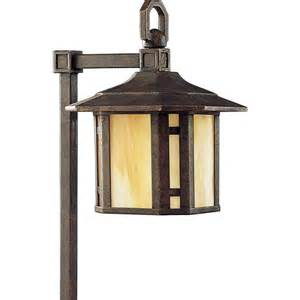 Home Depot Landscaping Lights Progress Lighting Low Voltage Arts And Crafts Collection Weathered Bronze Landscape Pathlight