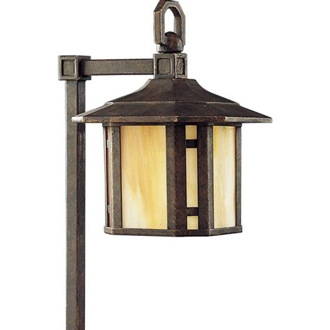 Home Depot Landscape Lighting Progress Lighting Low Voltage Arts And Crafts Collection Weathered Bronze Landscape Pathlight
