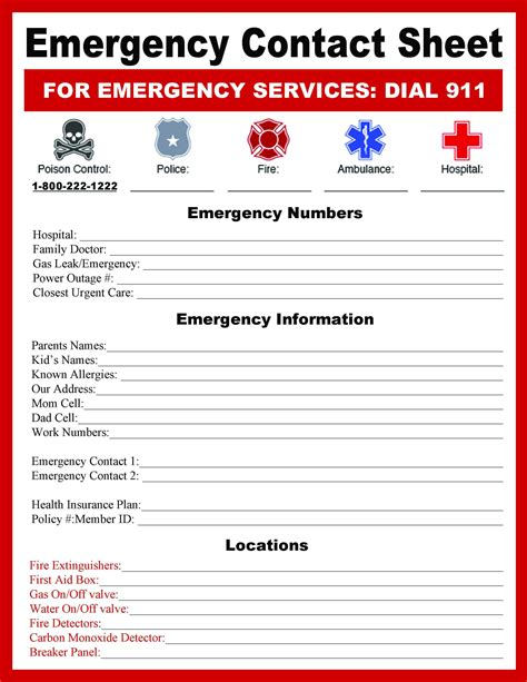 emergency numbers template expin franklinfire co