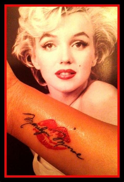 kissing my tattoos my marilyn marilyn i