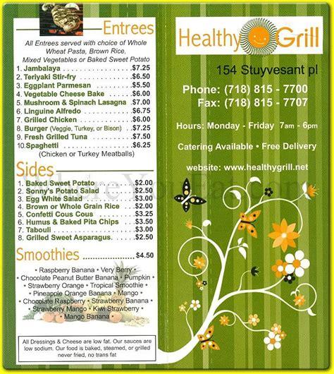 A Healthier Menu healthy grill health food restaurant menu on staten island