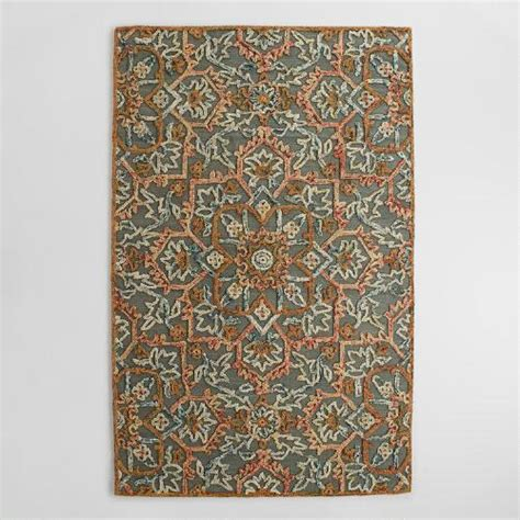 World Market Area Rugs Embroidered Floral Tufted Wool Area Rug World Market