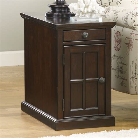 signature design  ashley laflorn dark brown power chair side  table  tables  hayneedle