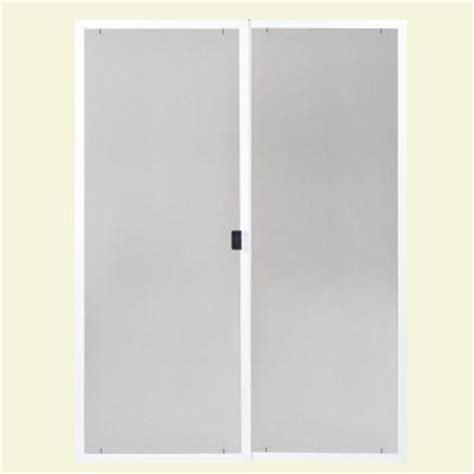 Replacement Screen For Patio Door Masonite 80 In X 60 In Replacement Screen Kit For Dual Patio Door 44585 The Home Depot