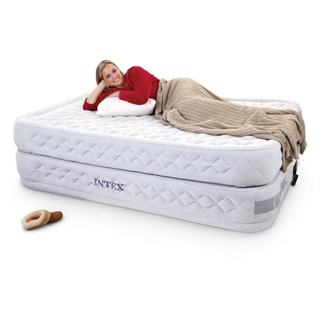 intex supreme air flow twin air bed  air beds  sportsmans guide