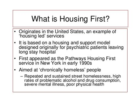 housing first model housing first in eu contexts application of the housing first model