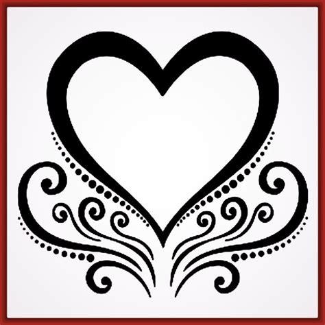 imagenes blanco y negro corazones dibujos de corazones bonitos y faciles archivos fotos de