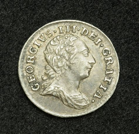 british coins silver penny coin of king george iii, 1786