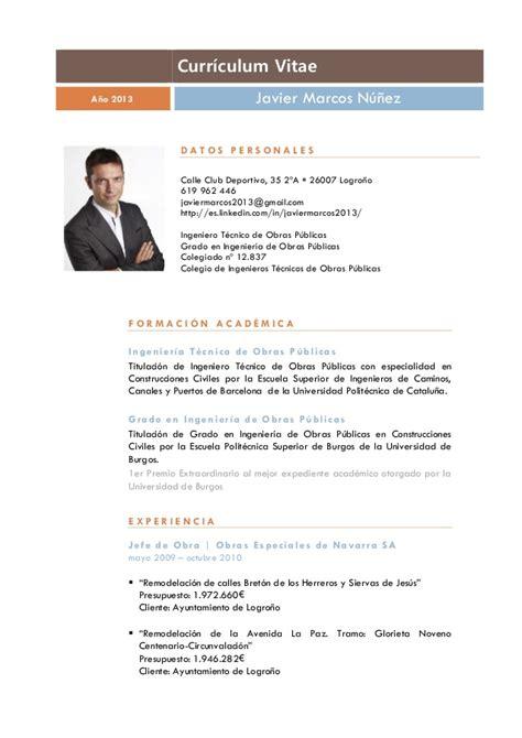 Modelo Curriculum Vitae España 2013 Curriculum Vitae