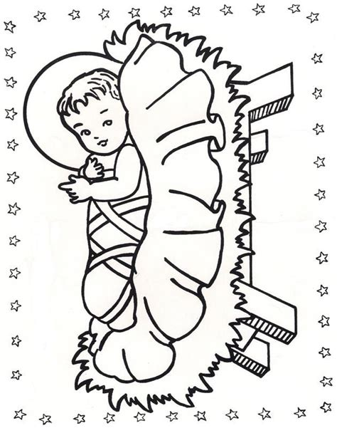 coloring page of baby jesus in a manger 378 best images about coloring pages on pinterest