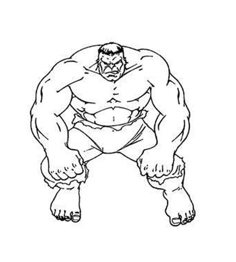 hulk cartoon pictures coloring home