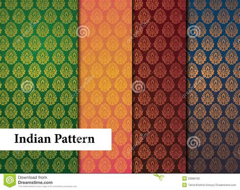 stock pattern screener india seamless indian patterns stock vector illustration of