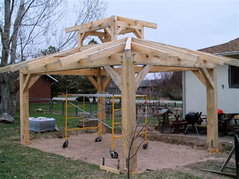 timber frame patio pavilion brewster timber frame company