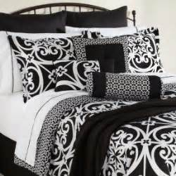 black and bed sets blue and black damask bedding foter