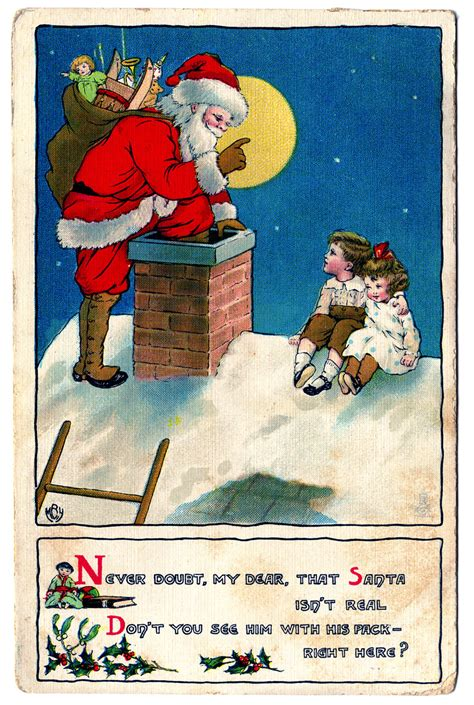 vintage christmas clip art santa  children  graphics fairy