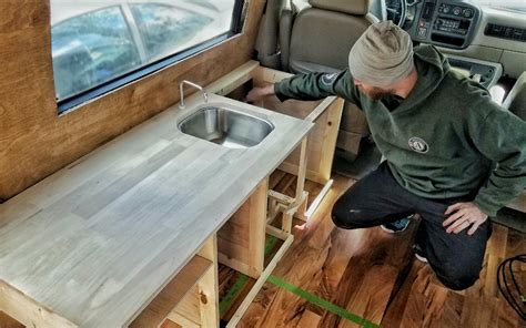 how to make custom kitchen cabinets how we made custom kitchen cabinets for our diy van build