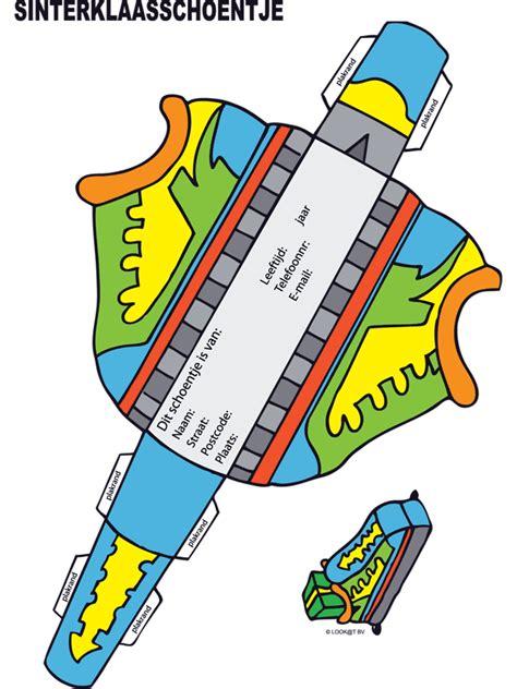 kleurplaat sinterklaasschoentje bouwplaat kleurplatennl