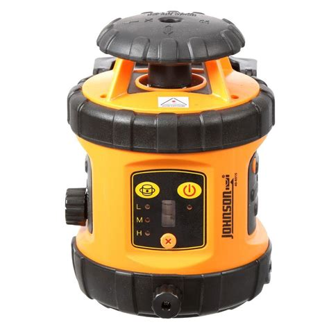 johnson self leveling rotary laser level with detector 40