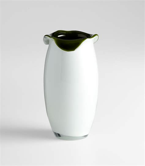 Small Decorative Glass Vases Small Villasa Olive Green Glass Vase By Cyan Design