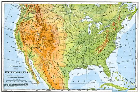 map of the united states mountains the united states