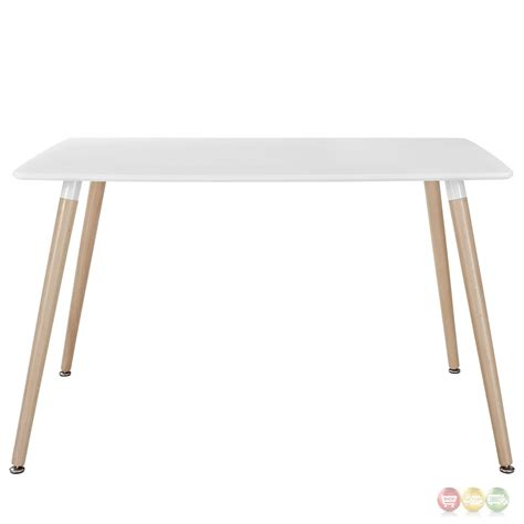 field contemporary 47 quot wooden dining table white