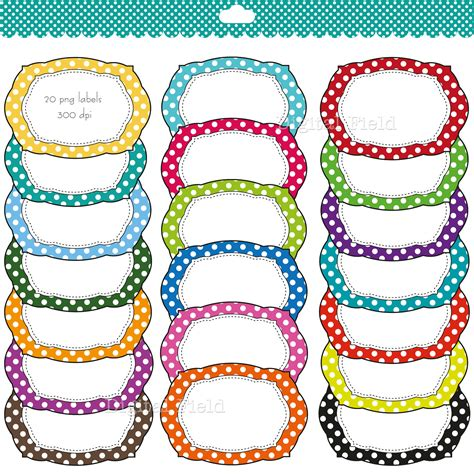 printable art tags colorful polka dot labels clip clipart panda free