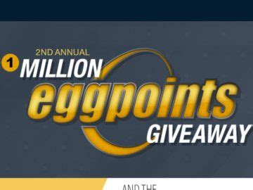 Electronic Giveaways Sweepstakes - 2nd annual 1 million eggpoints giveaway sweepstakes