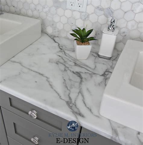 laminate countertops for bathroom vanities budget friendly bathroom update ideas formica calacatta marble laminate countertops