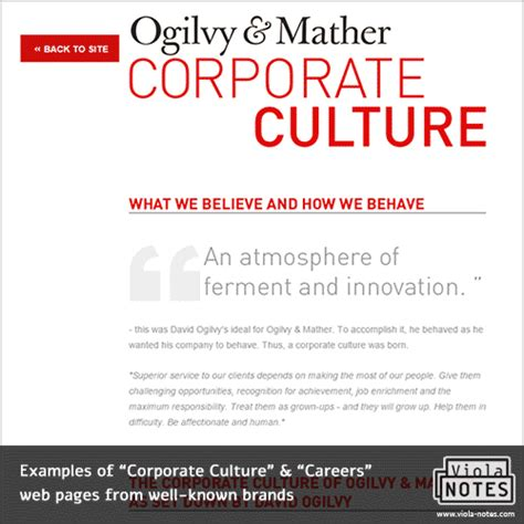 Exles Of Corporate Culture Careers Wep Pages From Well Known Brands Startup Trends Tips Company Culture Template